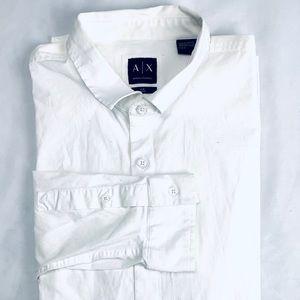 Men's Large Dress Shirt Armani Exchange White